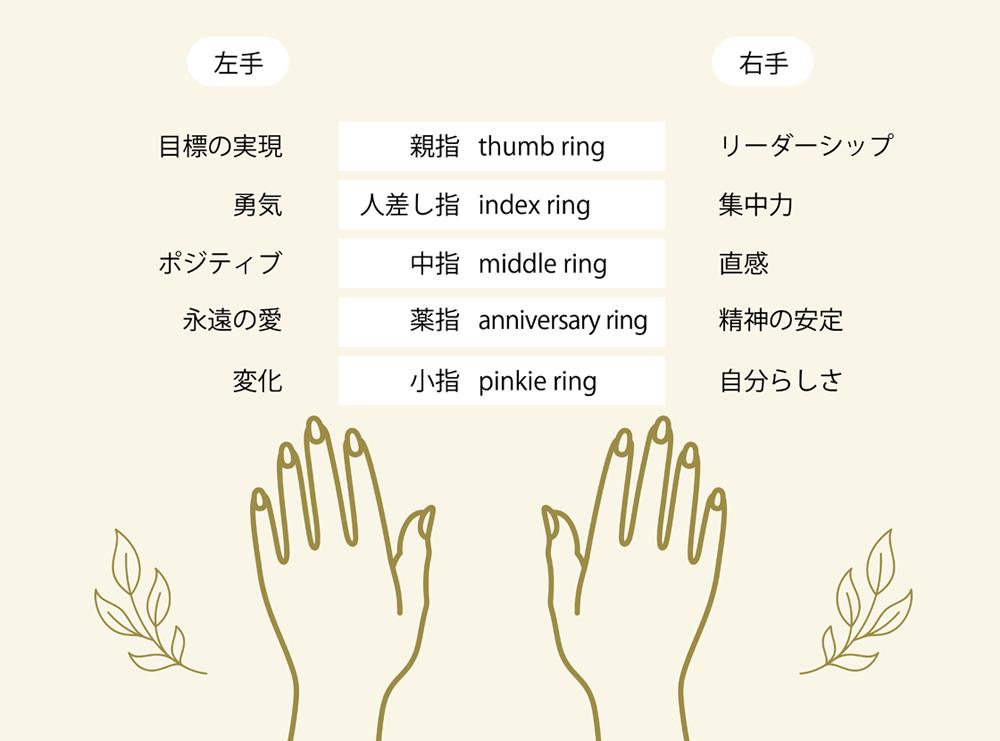 指ごとの指輪の意味